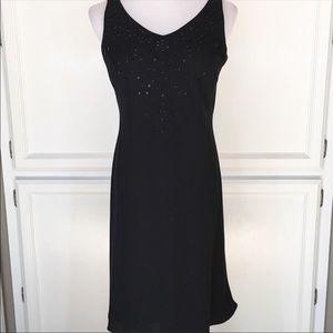 Black Virgo Sleeveless Dress